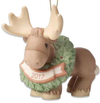 Precious Moments 2017 Christmas Moose Ornament