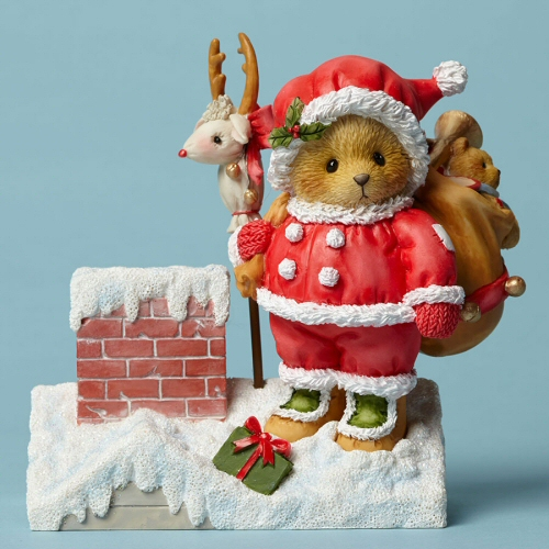 Cherished Teddies Bringing Cheer Down The Chimney