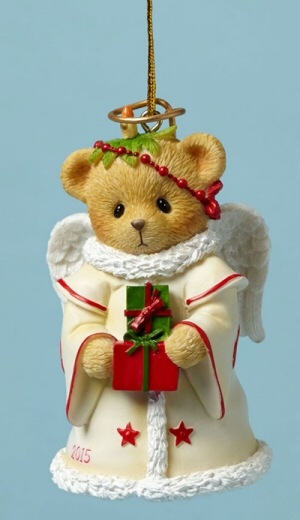 Cherished Teddies 2015 Dated Bell Christmas Ornament