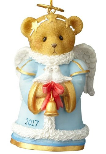 Cherished Teddies 2017 Dated Bell Christmas Ornament