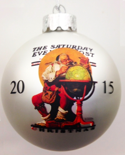 Norman Rockwell 2015 Christmas Ball Ornament