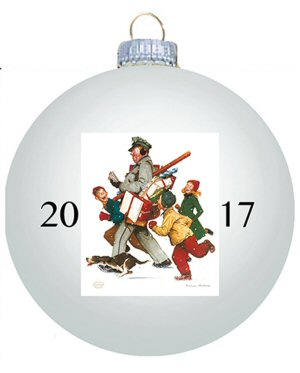 Norman Rockwell 2017 Christmas Ball Ornament