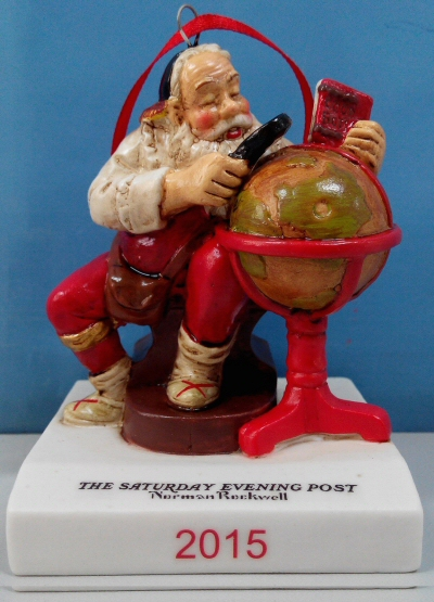 Norman Rockwell 2015 Christmas Ornament
