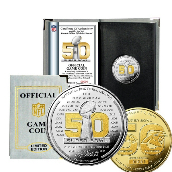 Super Bowl 50 Official Two-Tone Flip Coin